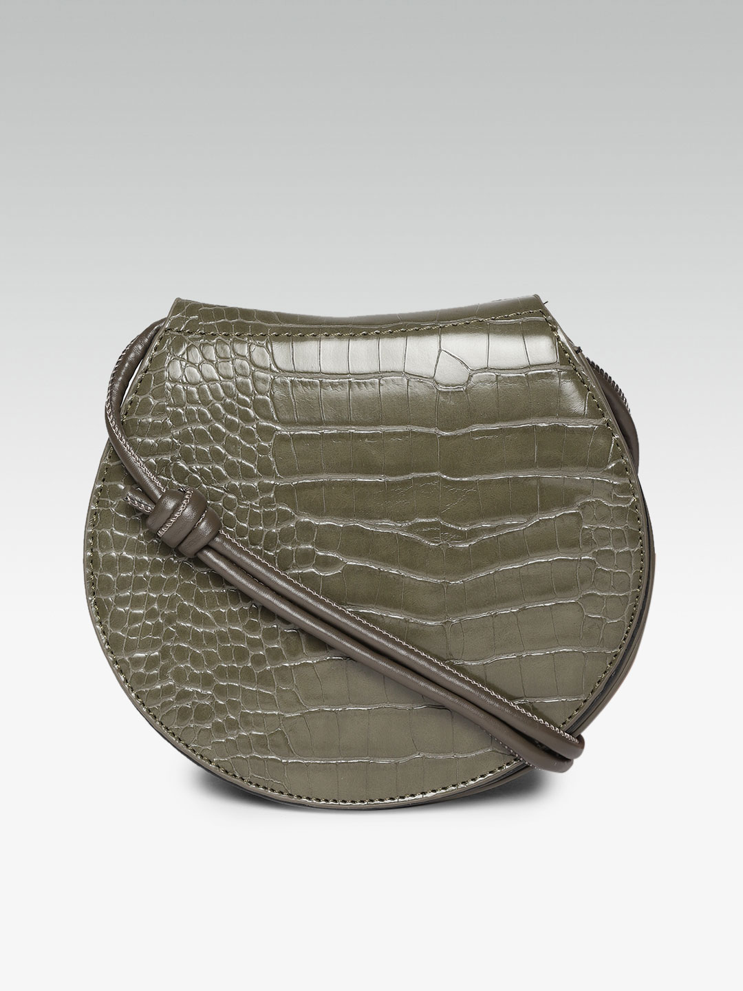 Slings-Uniquely Yours Olive Green Sling Bag1