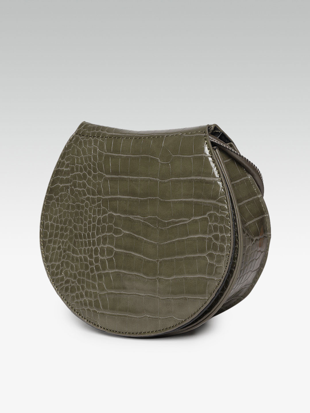 Slings-Uniquely Yours Olive Green Sling Bag2