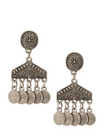Earrings-Silver Make Some Noise Earrings 1