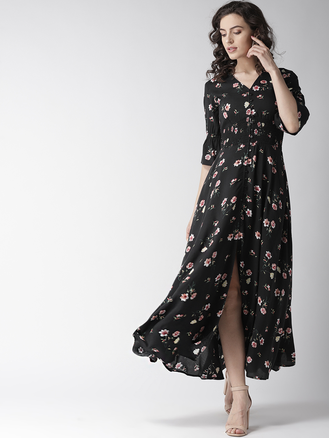 Dresses-Spot On Style Floral Maxi Dress1