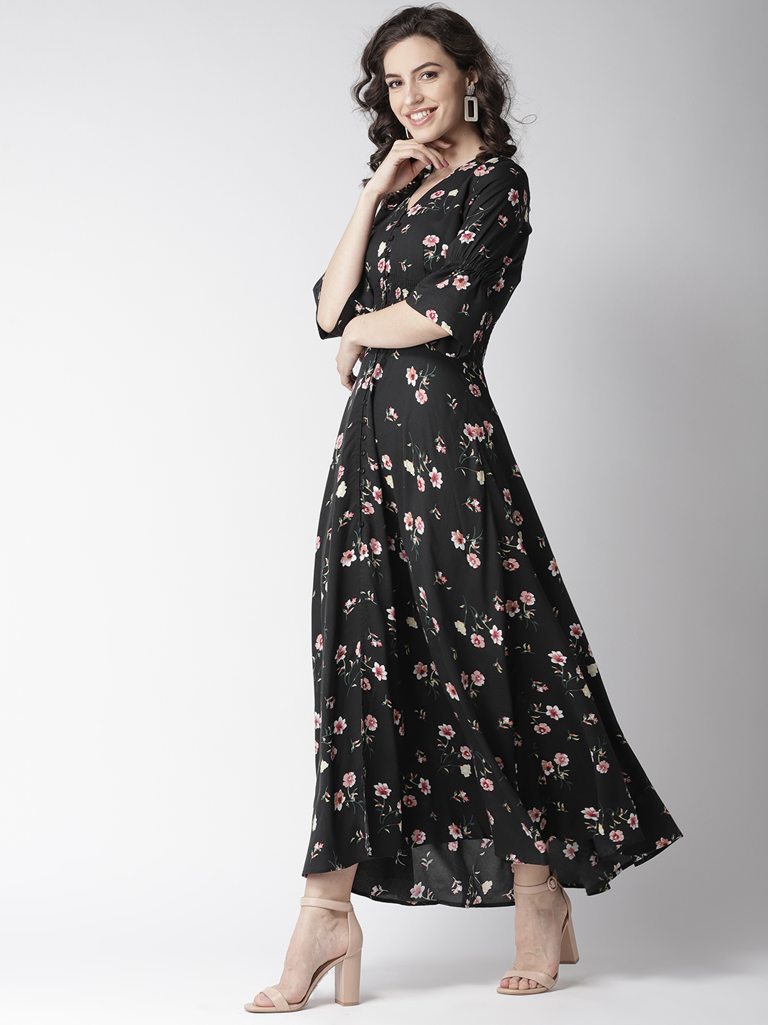 Dresses-Spot On Style Floral Maxi Dress2