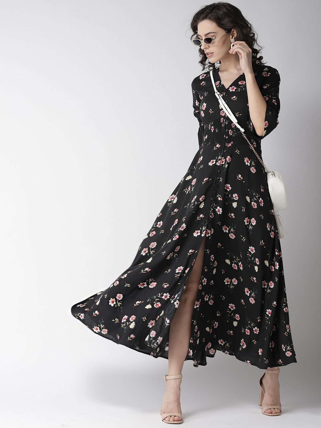 Dresses-Spot On Style Floral Maxi Dress4