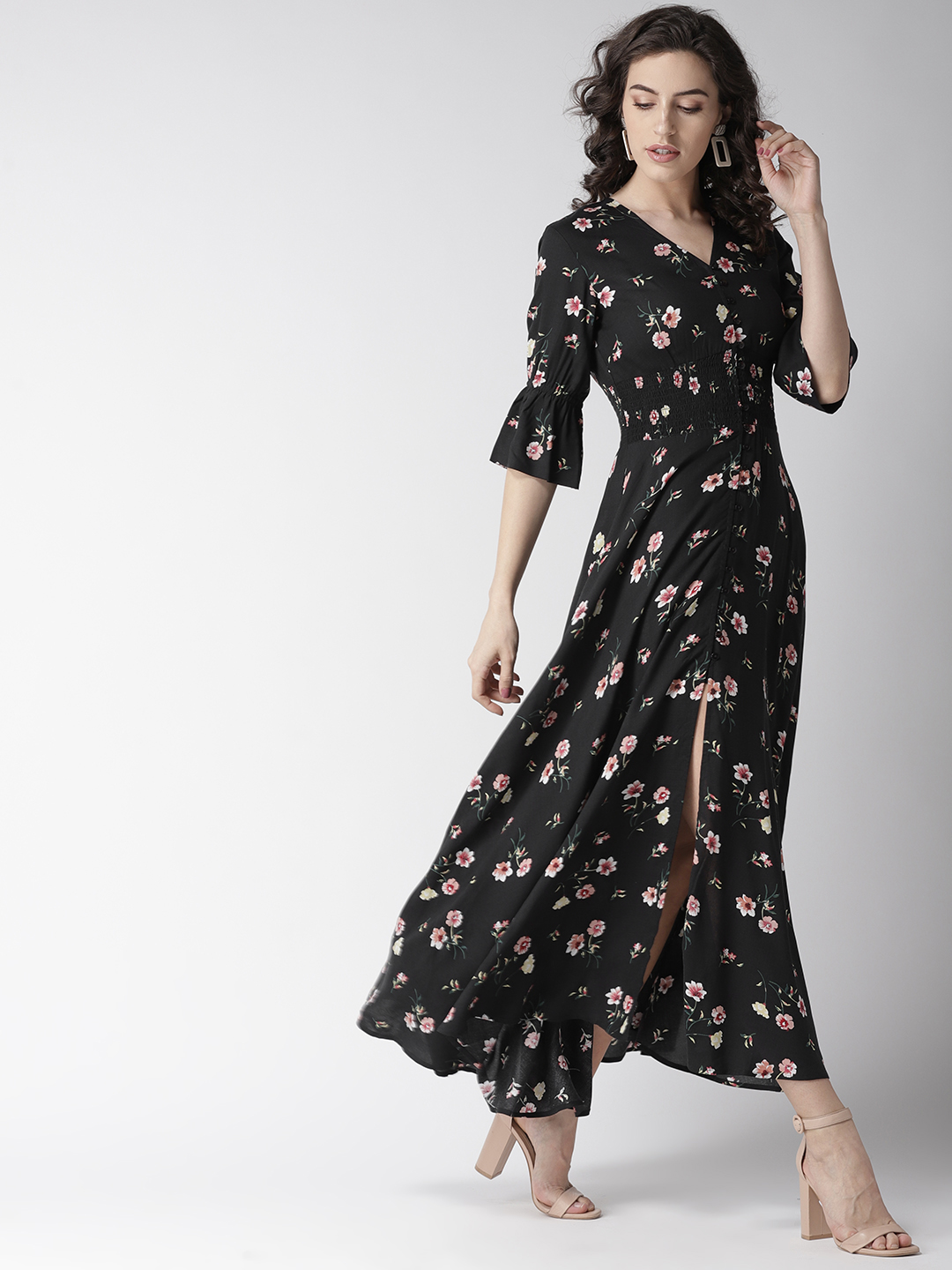 Dresses-Spot On Style Floral Maxi Dress6