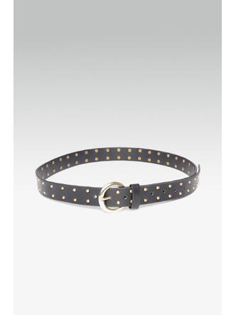 Belts-Starry Studded Black Buckle Belt3