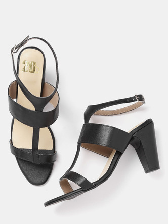 Heels and Wedges-Strapped In Glamour Block Heels3