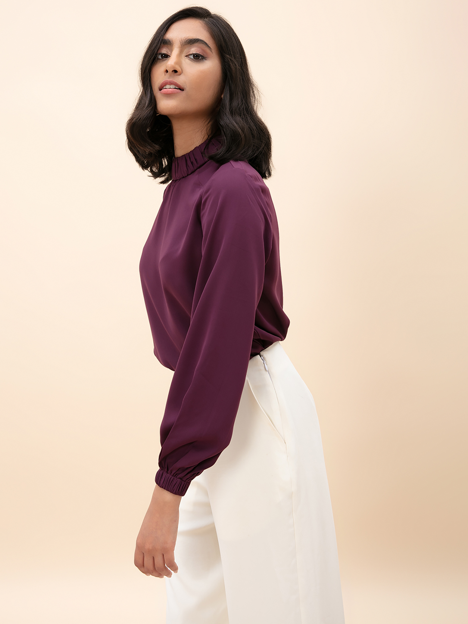 Tops-The Formidable Formal Purple Top1
