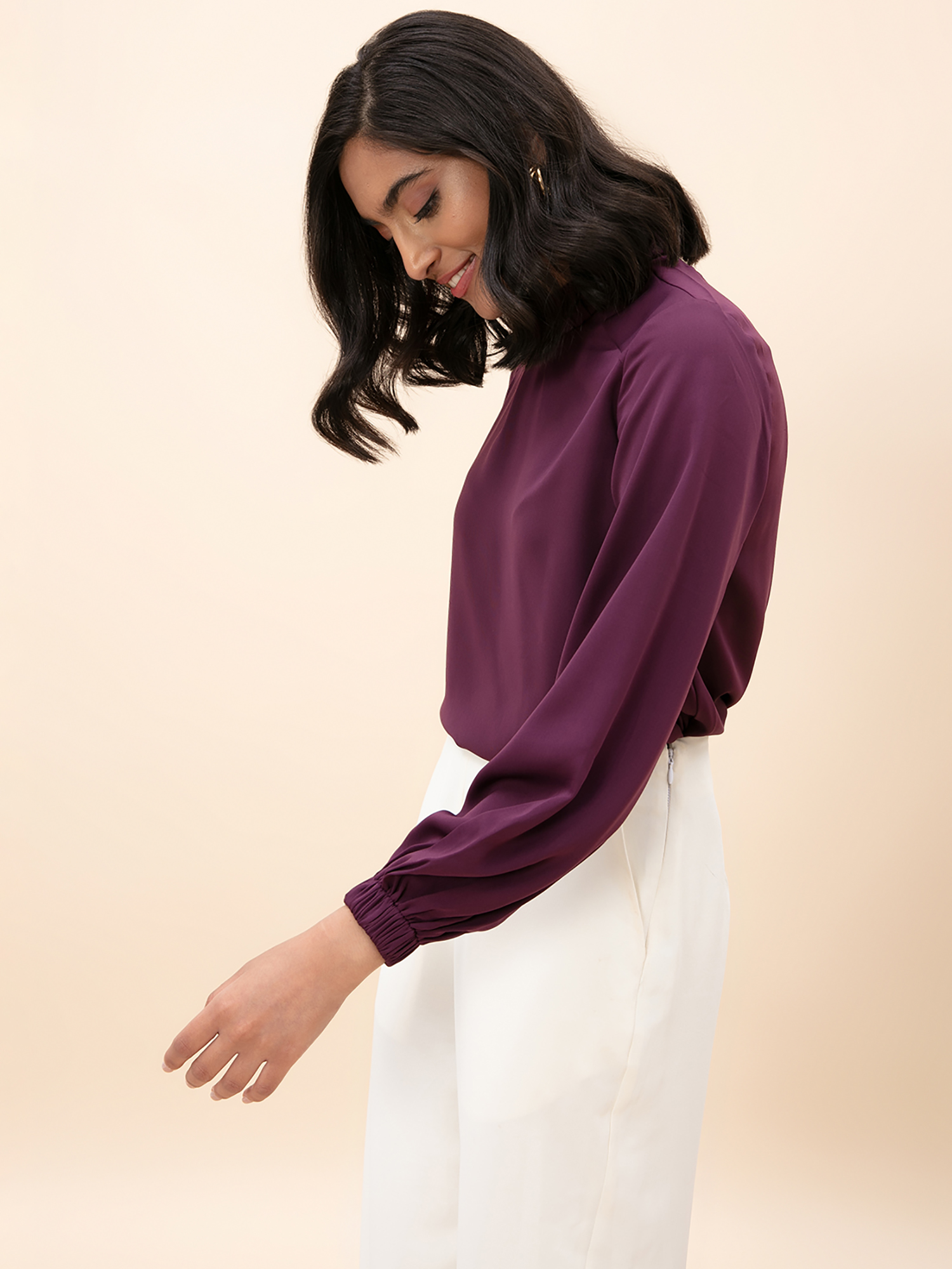 Tops-The Formidable Formal Purple Top4
