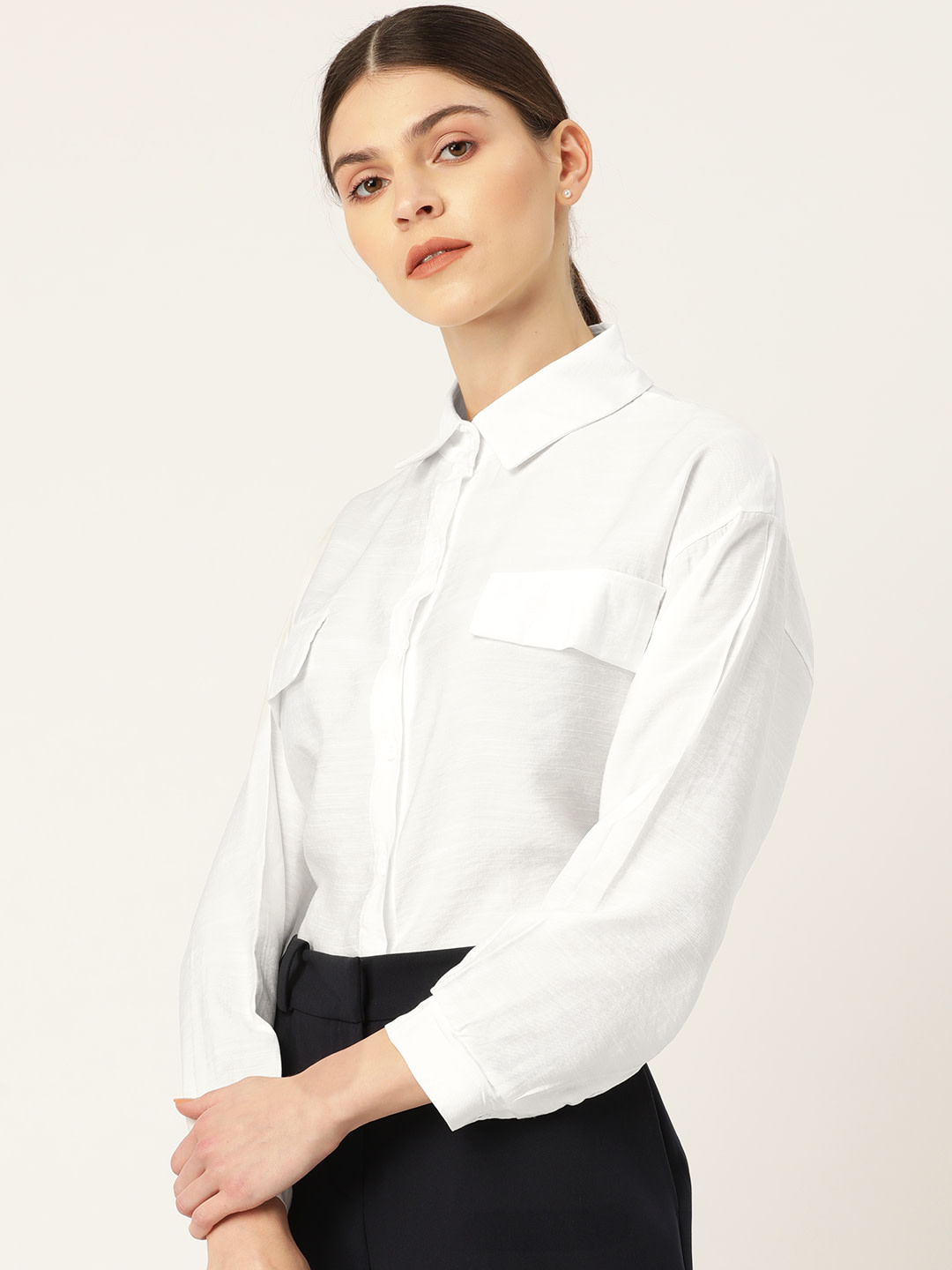 Tops-One Of A Kind White Shirt2