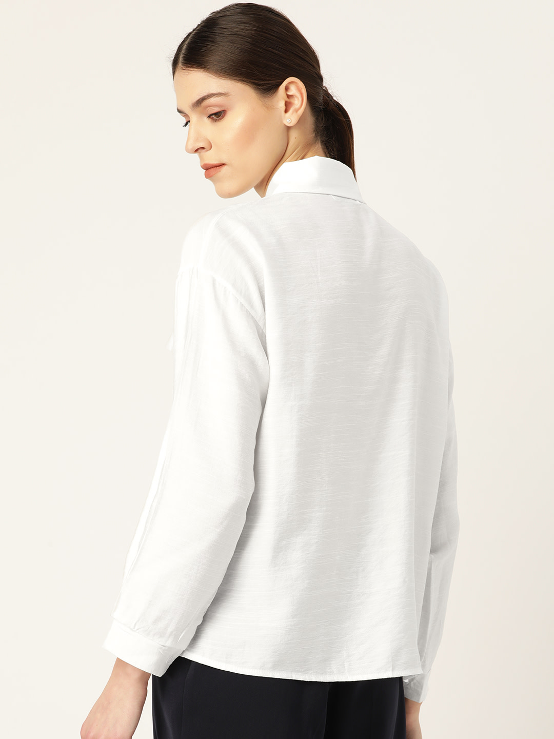 Tops-One Of A Kind White Shirt3