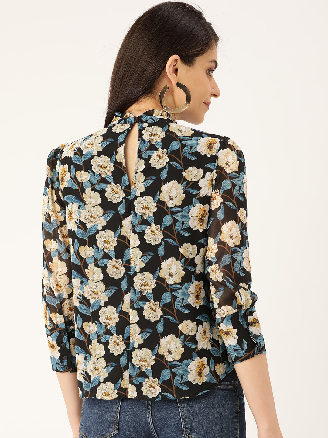 Tops-Lost In The Floral Ruffle Top3