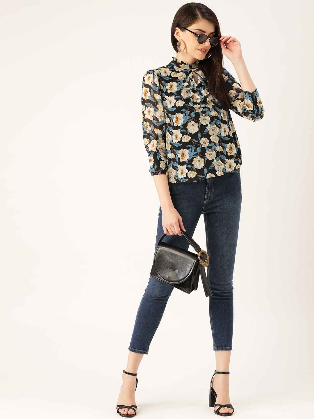 Tops-Lost In The Floral Ruffle Top4