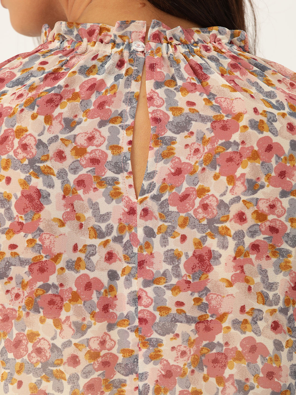 Tops-Sheer Dreams Floral Top5