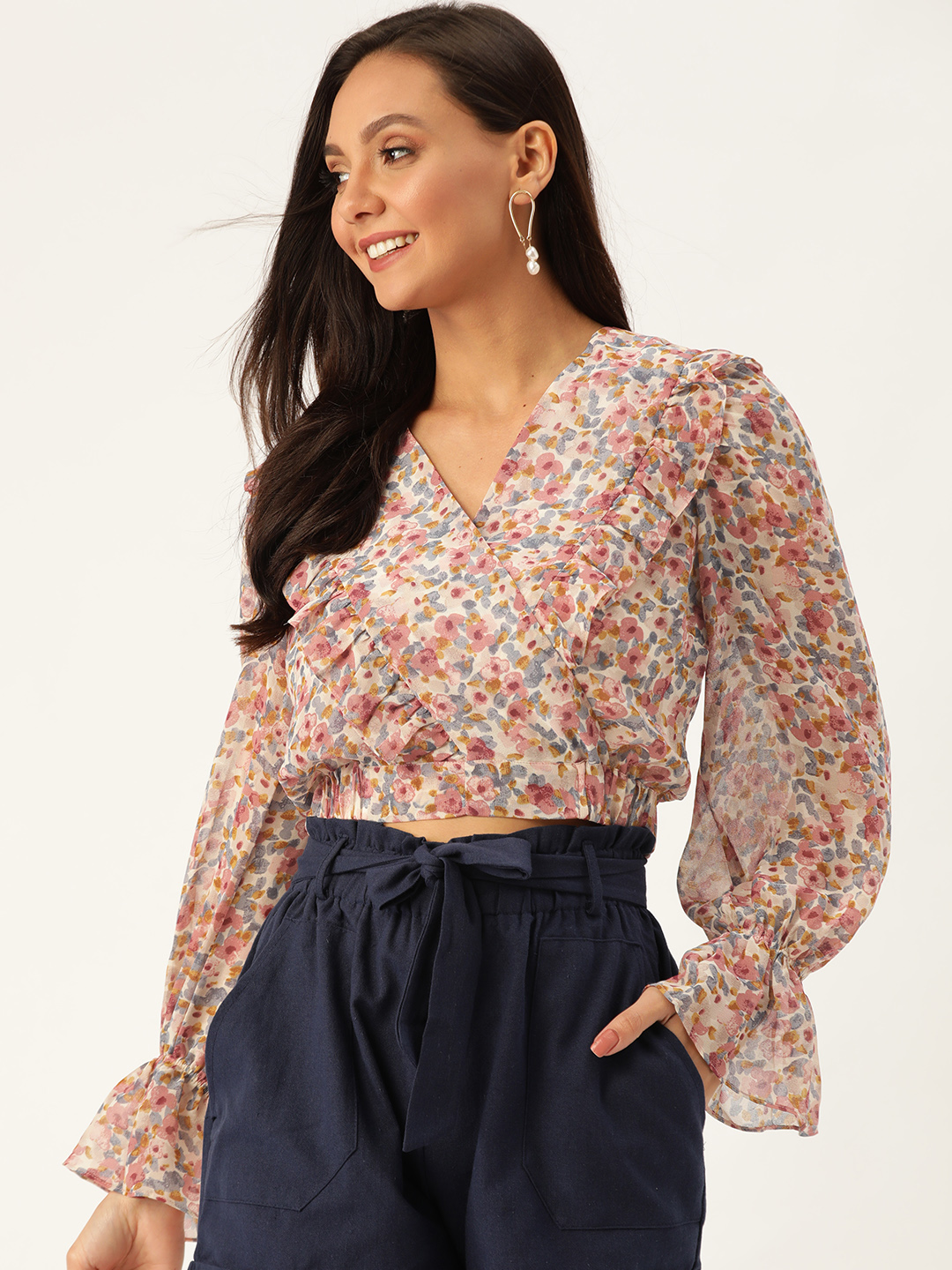 Tops-Wrapped With Florals Top1