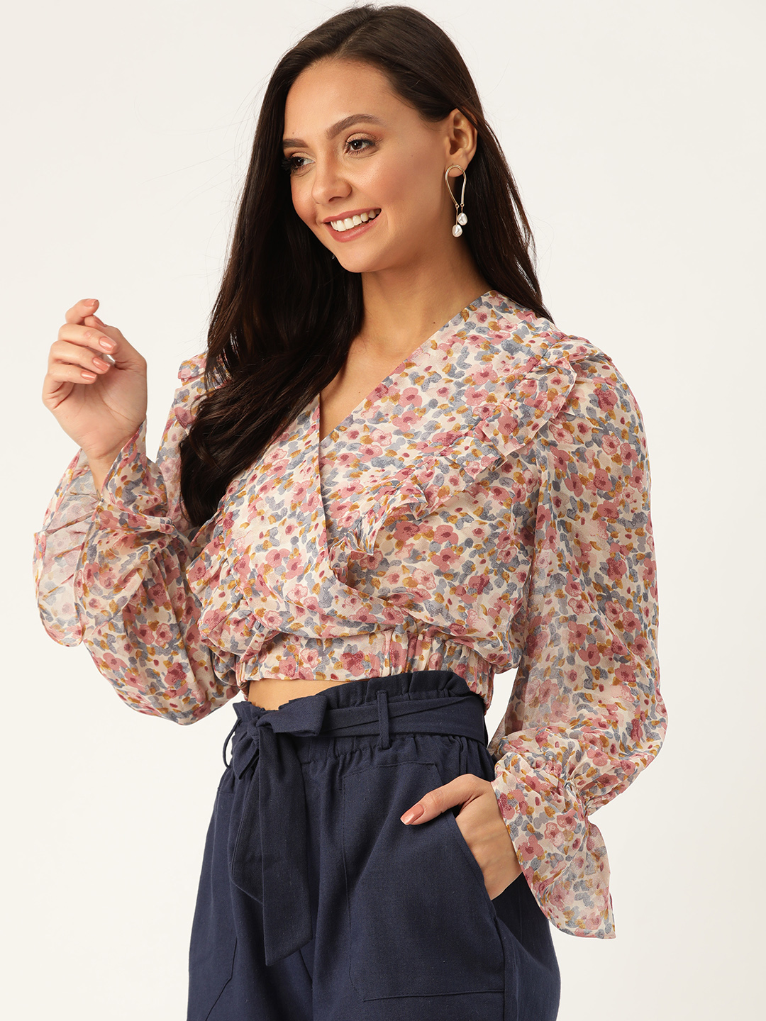 Tops-Wrapped With Florals Top4