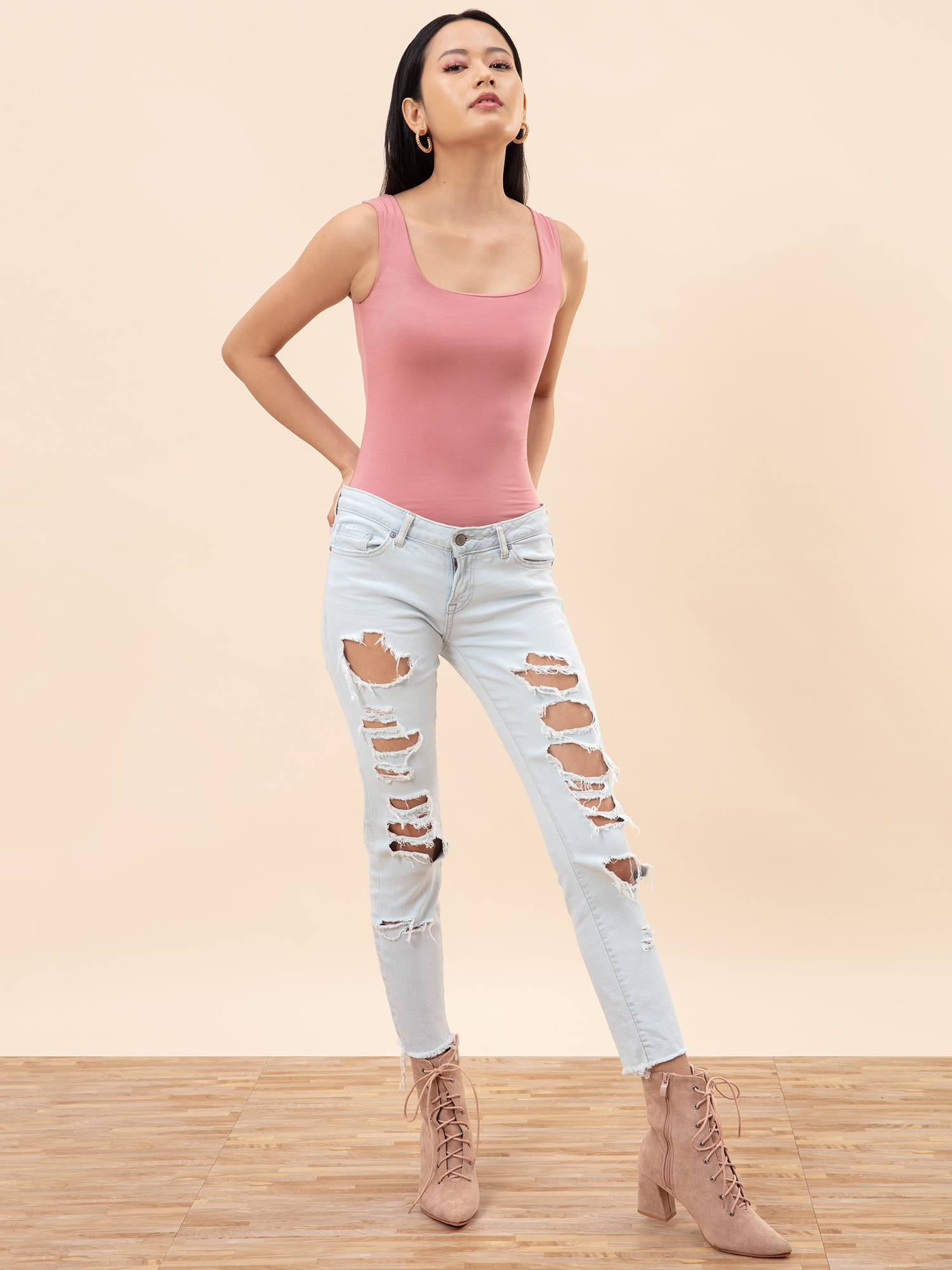 Tops-Casual Vibes Dusky Pink Tank Top2