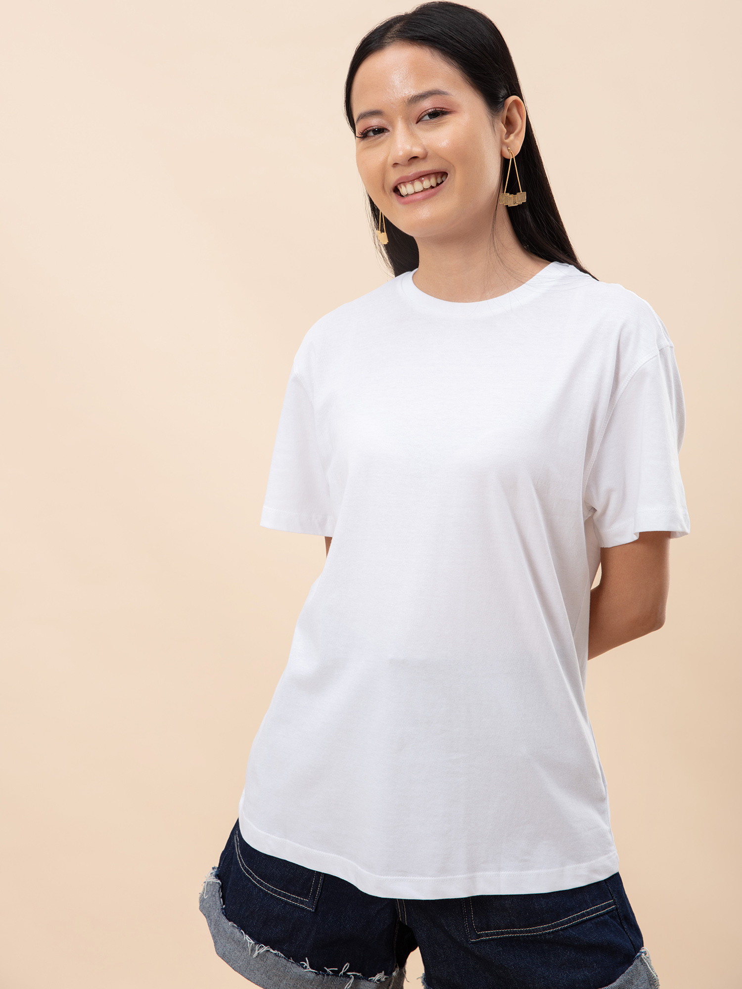 Tops-Oversized Love White T-shirt6