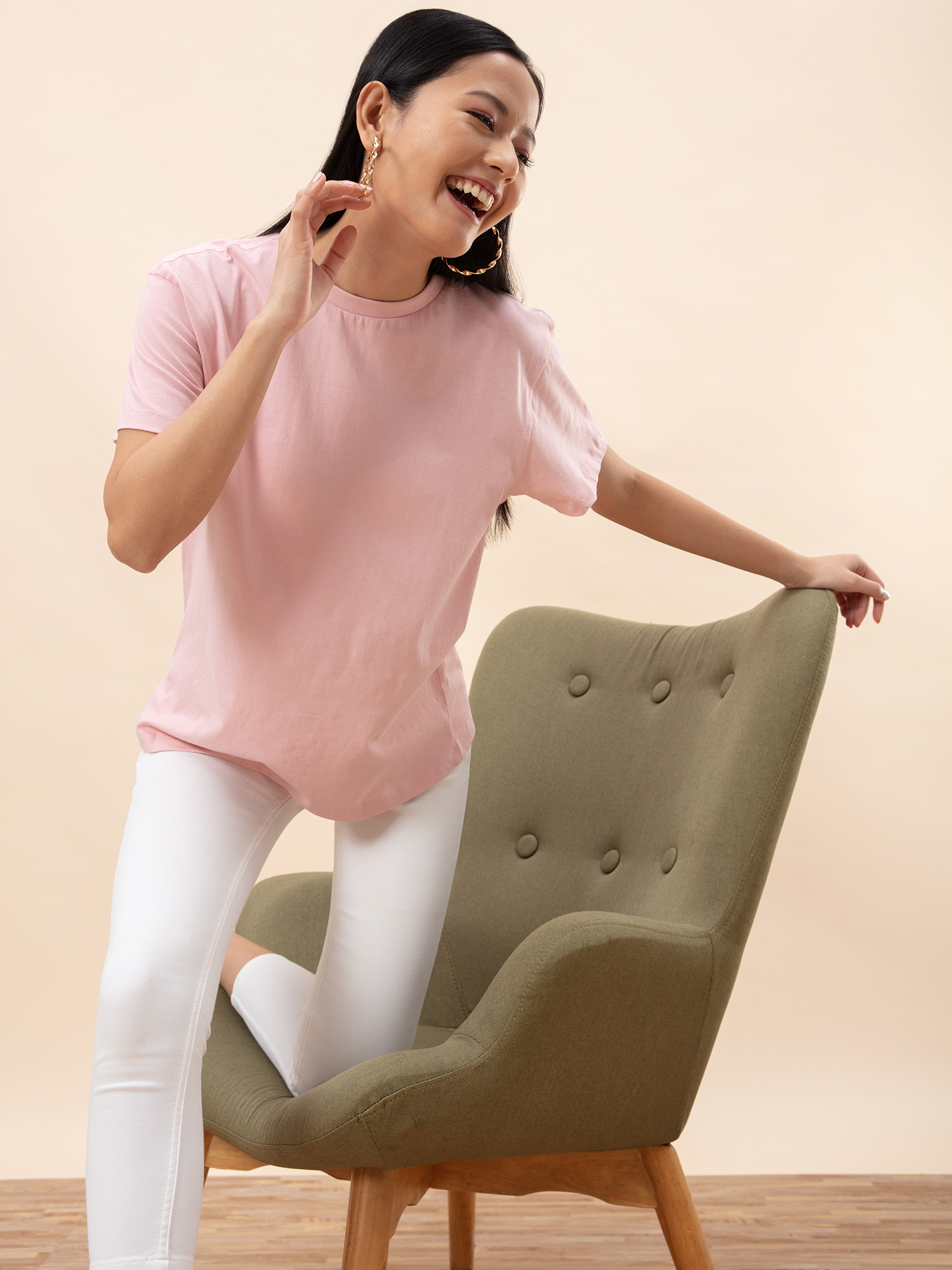 Tops-Oversized Love Dusky Pink T-shirt1