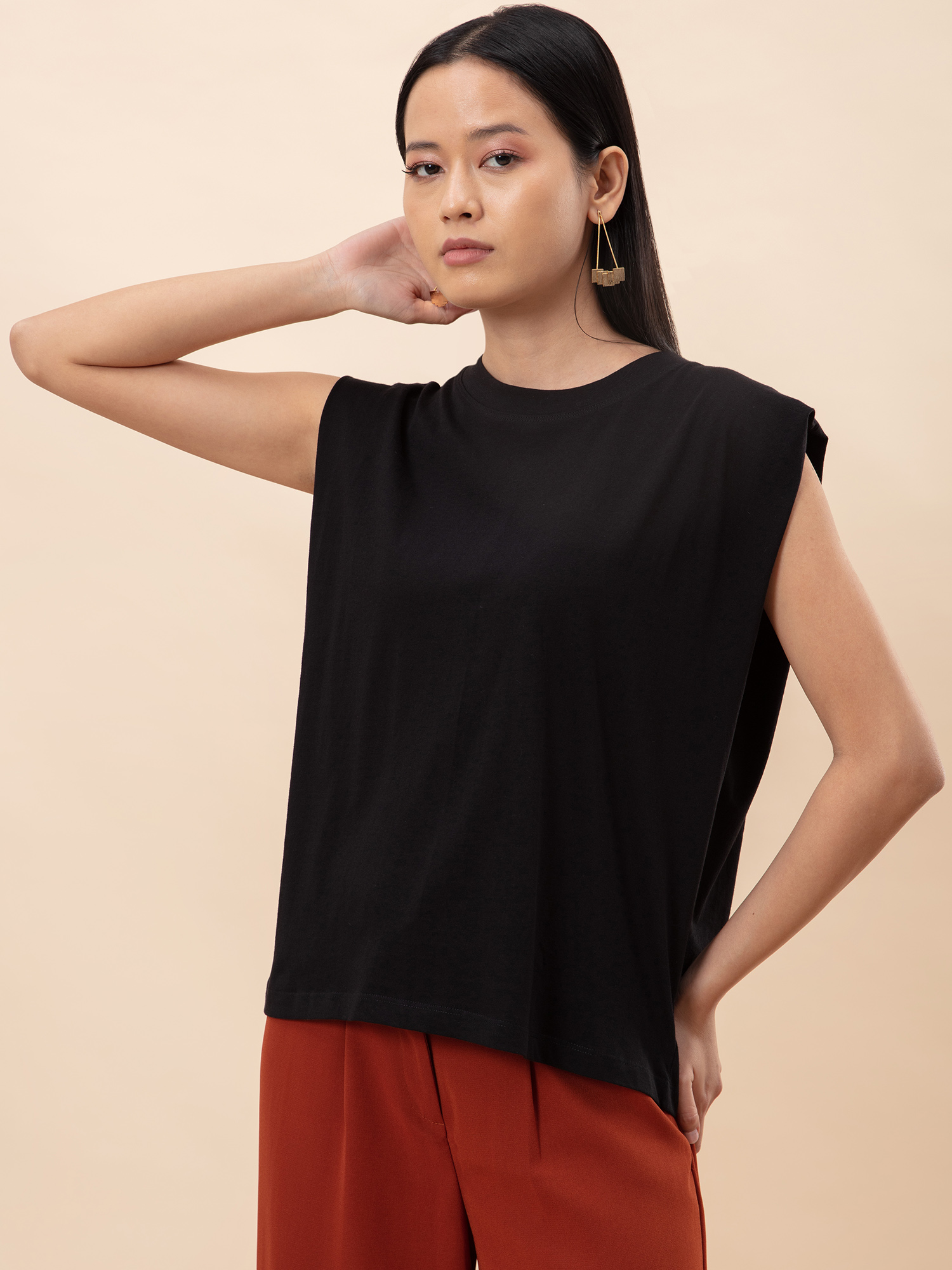 Tops-Casual Daze Black T-shirt6