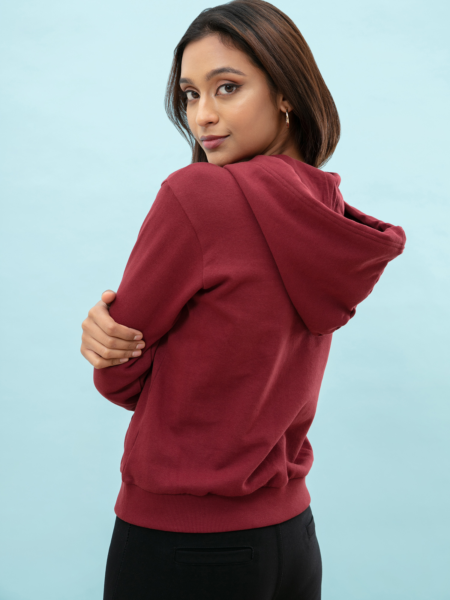 Tops-Pocket Full Of Maroon Hoodie3