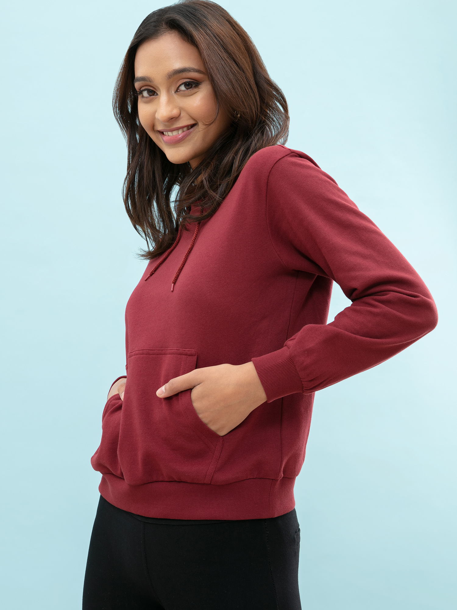 Tops-Pocket Full Of Maroon Hoodie4