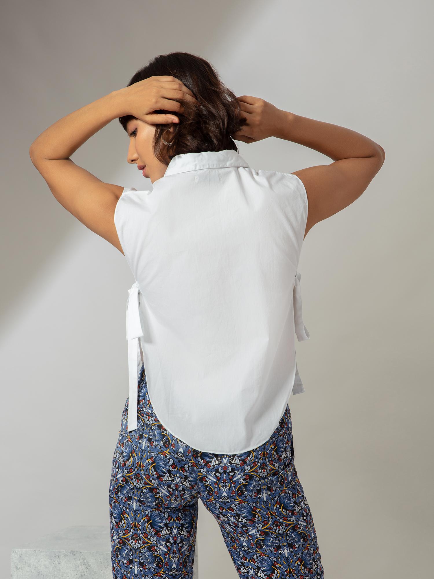 Tops-Pretty Chic In White Shirt3