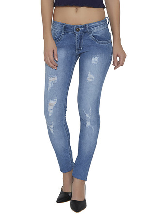 Denims Jeggings and Leggings-The Age Of The Light Blue Distressed Denims1