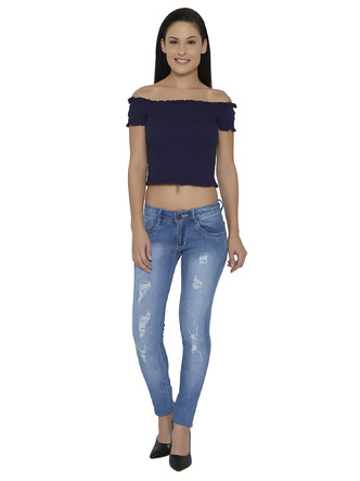 Denims Jeggings and Leggings-The Age Of The Light Blue Distressed Denims2