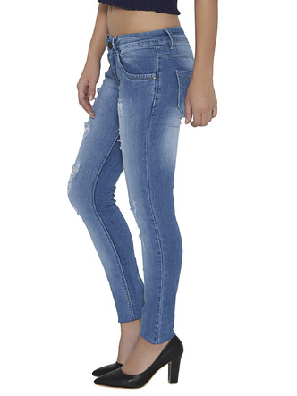 Denims Jeggings and Leggings-The Age Of The Light Blue Distressed Denims5