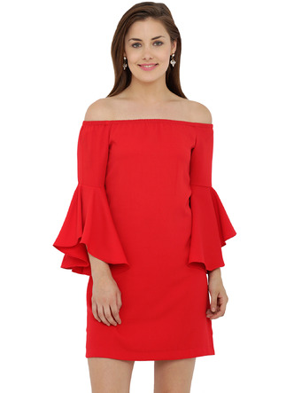 Dresses-The Bell Sleeve Flare Dress1