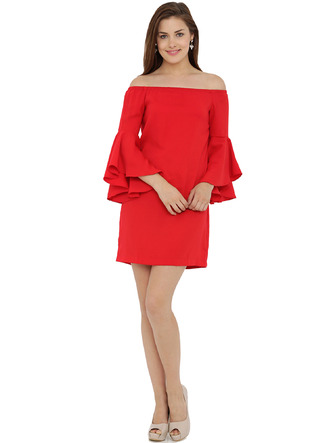Dresses-The Bell Sleeve Flare Dress2