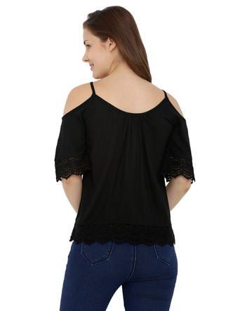Tops-The Bohemian Black Lace Top 3