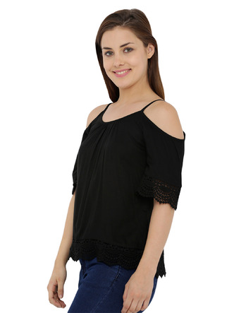 Tops-The Bohemian Black Lace Top 4