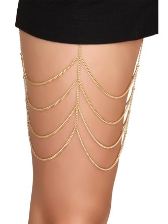 Body Chains-The Chained Love Thigh Chain2