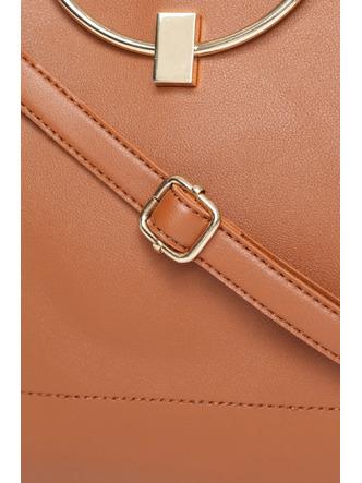 Hand Bags-The Circle Of Life Brown Mini Handbag1