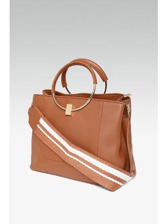 Hand Bags-The Circle Of Life Brown Mini Handbag6
