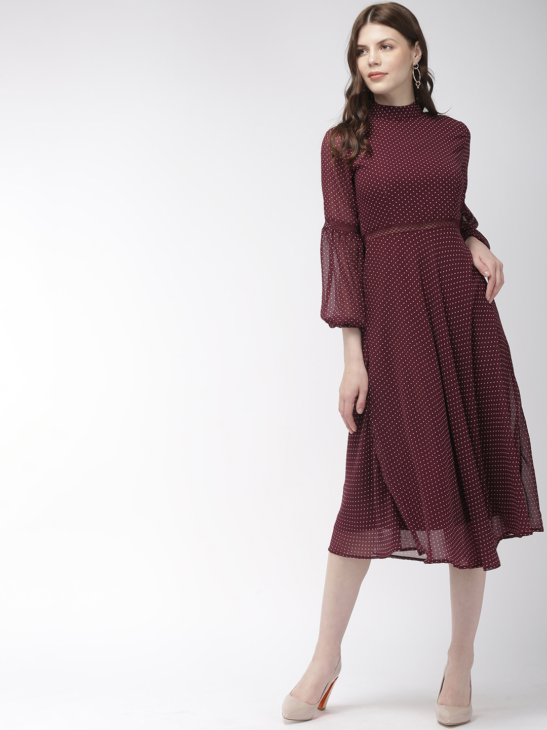 Dresses-The Dotted Grace Midi Dress1