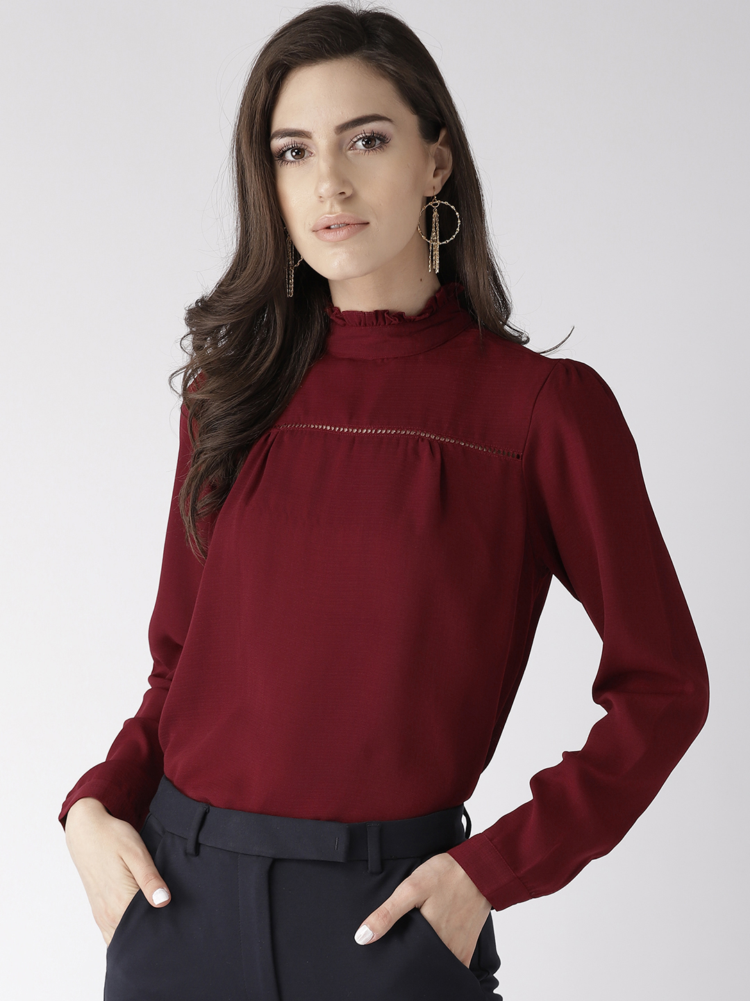Tops-The New Look Maroon Top1