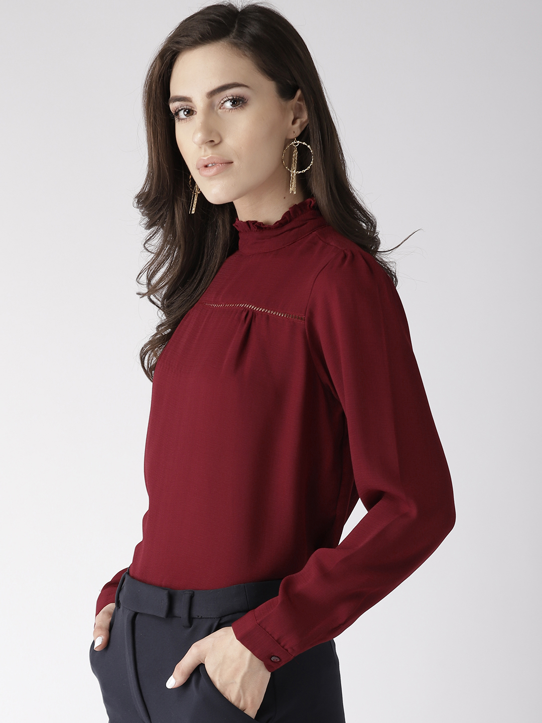 Tops-The New Look Maroon Top2