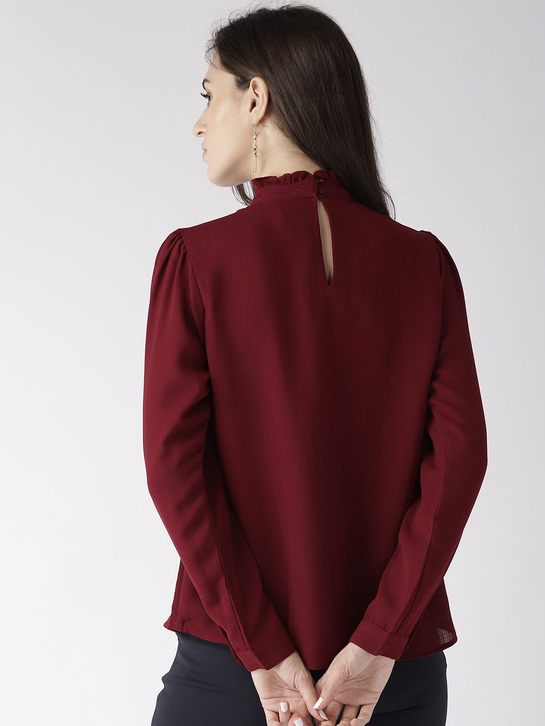 Tops-The New Look Maroon Top3