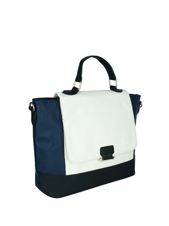 Hand Bags-The Surface Of Sea Colorblock Handbag3