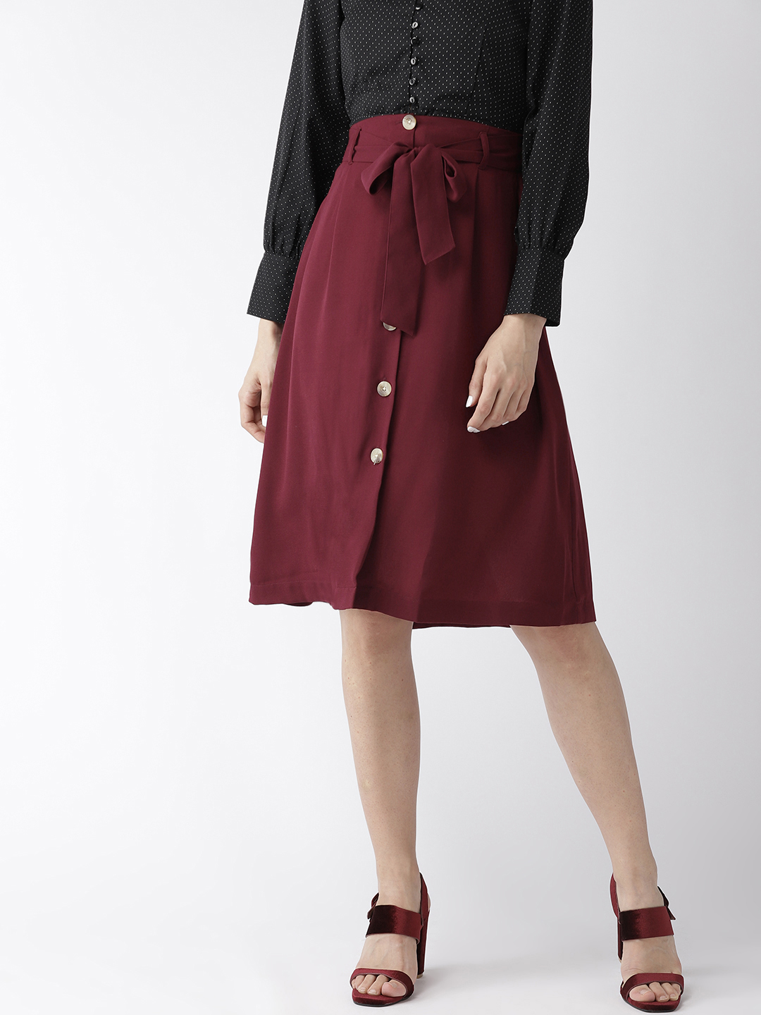 Shorts and Skirts-The Sweet Spot Button Down Skirt1