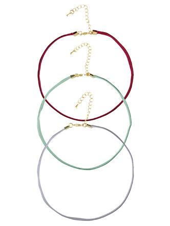 Necklaces-The Velvet Touch Choker Necklace Set2