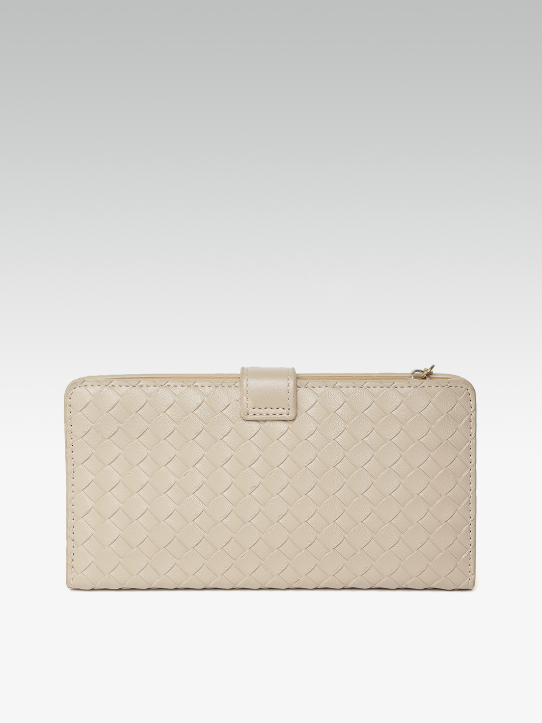 Wallets and Makeup Pouches-The Woven Rage Beige Wallet3