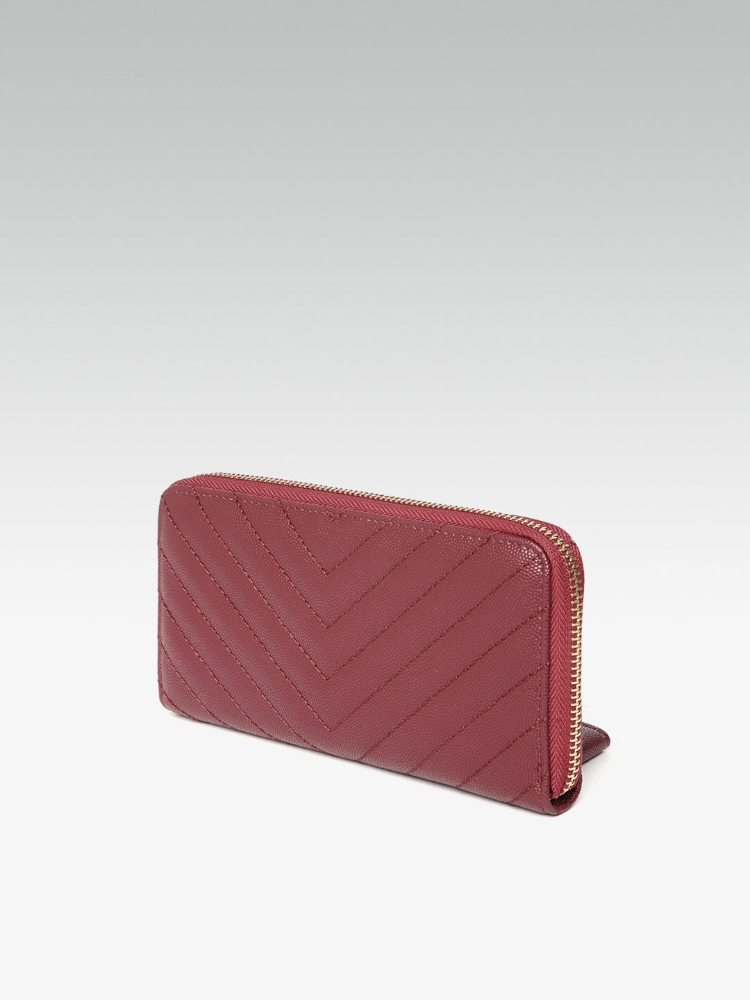 Wallets and Makeup Pouches-Quilted In Style Red Wallet2