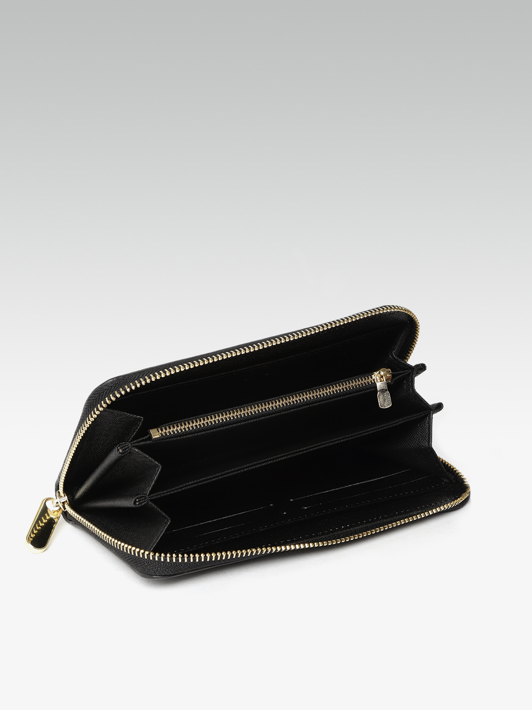 Wallets and Makeup Pouches-Sticking To the Classics Black Wallet4