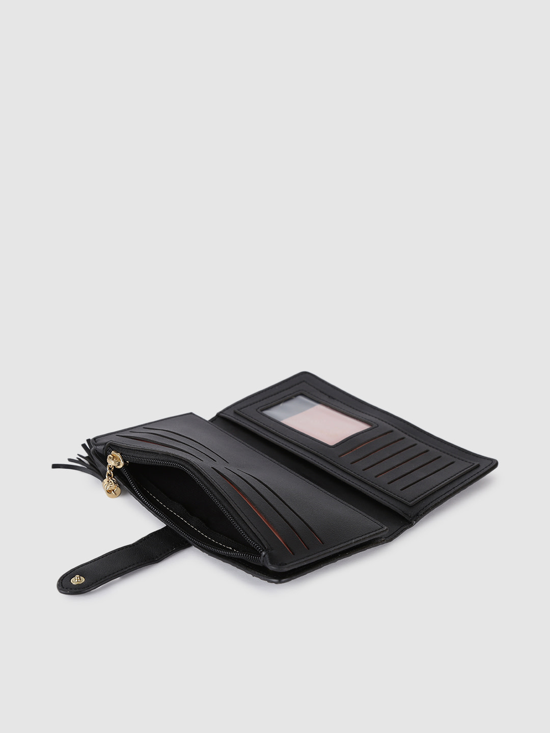 Wallets and Makeup Pouches-Shine By Us Black Wallet4