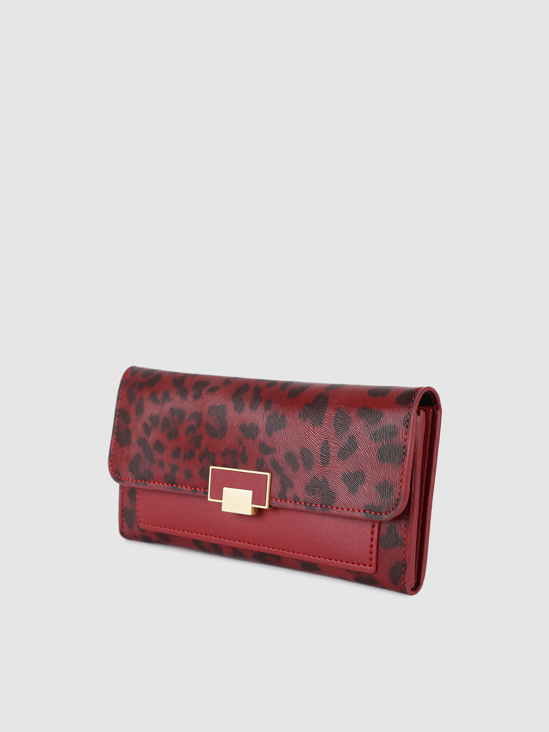 Wallets and Makeup Pouches-Wander With Me Red Leopard Print Wallet2