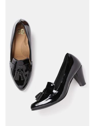 Heels and Wedges-Work It Down Black Brogue Heels1