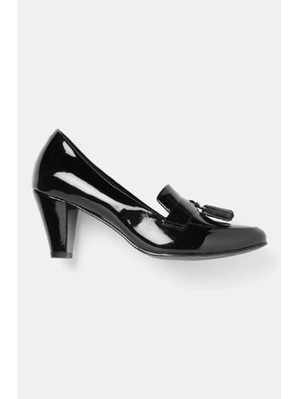 Heels and Wedges-Work It Down Black Brogue Heels2