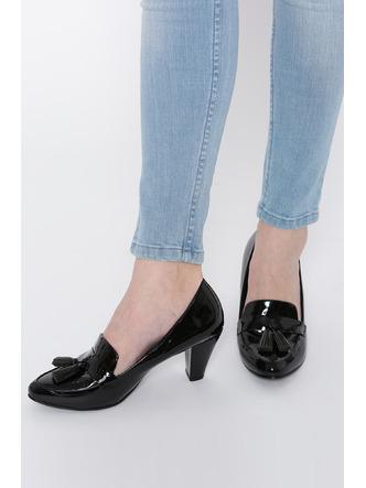 Heels and Wedges-Work It Down Black Brogue Heels5